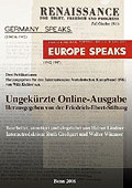 Titelgrafik: Europe speaks, germany speaks, Renaissance